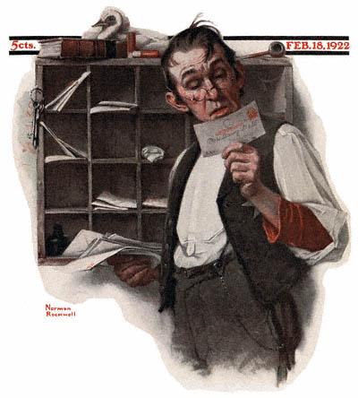 Norman Rockwell Postman